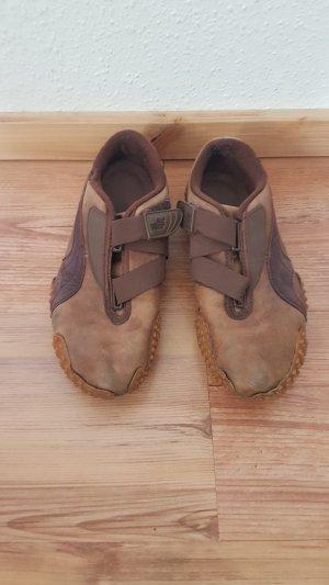Puma Zapatillas con velcro marrón-marrón-negro Cuero