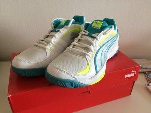 Puma Sneakers wit-turkoois
