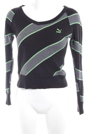Puma V-Ausschnitt-Pullover mehrfarbig Logostickerei