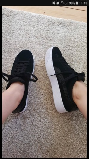 Puma Heel Sneakers white-black