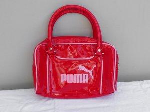 Puma Vintage Retro Tasche Lack - rot/rosa - Henkeltasche - Blogger -Style