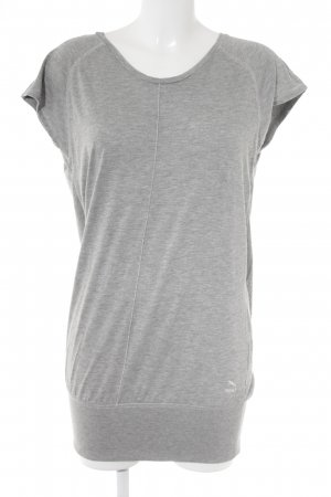 Puma Cowl-Neck Shirt light grey flecked athletic style