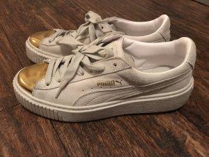 Puma weiß gold 38