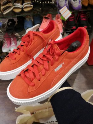 PUMA Wildleder orange Gr. 38