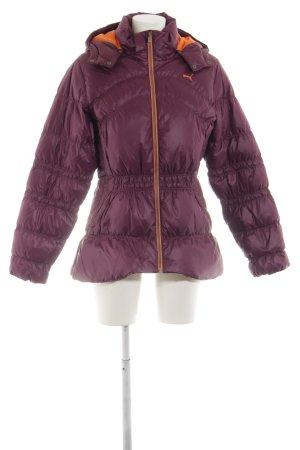 Puma Winter Jacket lilac printed lettering street-fashion look