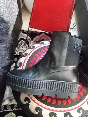 Fenty Puma by Rihanna Platform Booties black leather