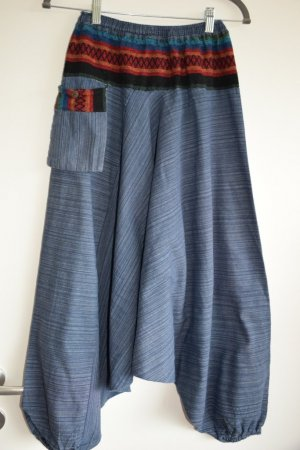 Pantalone bloomers blu Cotone