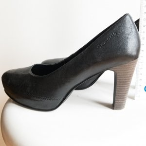Tamaris Tacones con plataforma negro Cuero