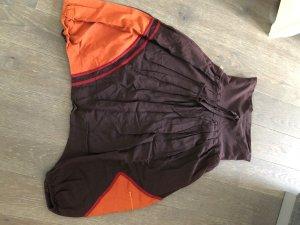 Harem Pants dark brown-dark orange