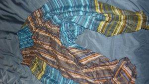 Pantalón estilo Harem color bronce-azul neón