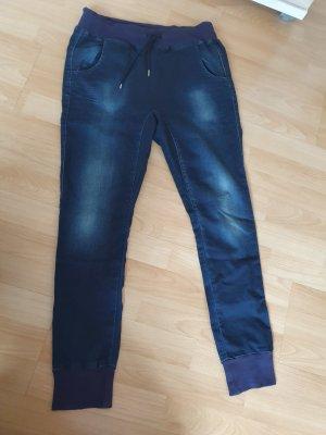 Pantalon large gris ardoise-bleu foncé