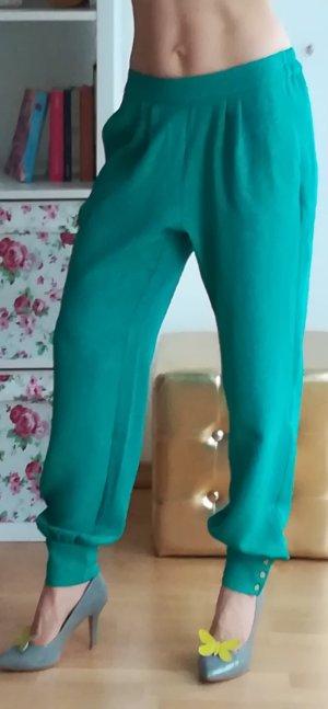 Mango Pantalon doré-bleu cadet
