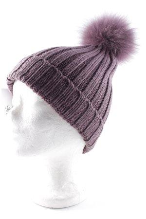 pumpkin Chapeau en tricot violet style simple