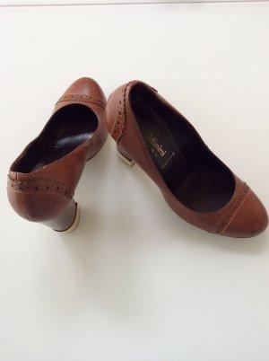 Baldinini Pumps bronze-colored leather