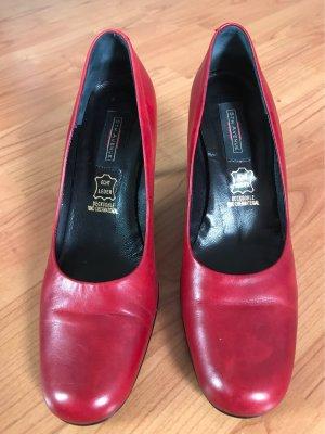 5th Avenue Mary Jane Pumps dark red-carmine leather