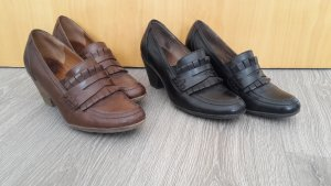 Caprice Scarpa business nero-cognac