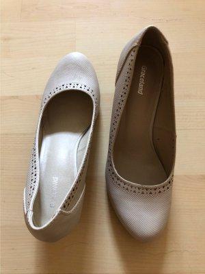 Graceland Tacones Mary Jane beige claro