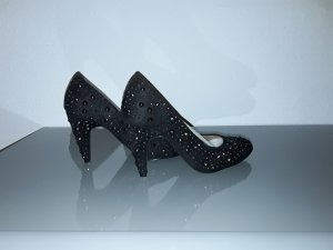 3 Suisses High Heels black-silver-colored