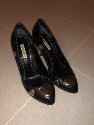 Dolce & Gabbana Hoge hakken zwart-goud