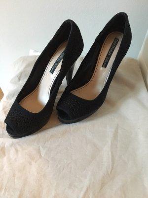 Zara Peep Toe Pumps black