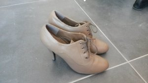 Spm Lace-up Pumps grey brown