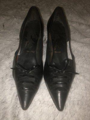 Pumps Antik Vintage Echtleder Schuhe Größe 37