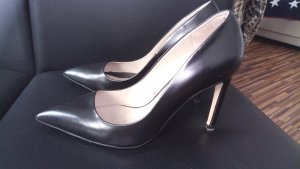 Zara Basic Tacones negro Cuero