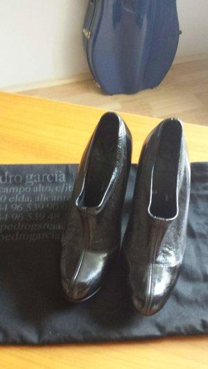 Pedro garcia Chaussure à talons carrés noir cuir