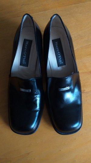 Marc O'Polo Chaussure à talons carrés noir cuir