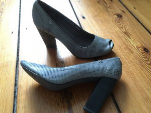 Pumps, Blockabsatz, Peep toe, G-Star in Grau in 41