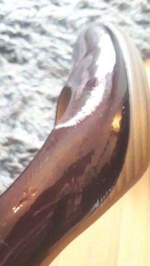 pumps bordeau lack glänzend