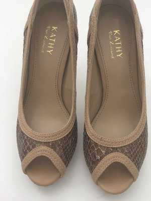 Pumps light brown-brown leather