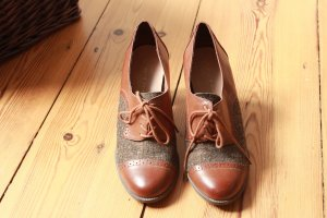 Pumps Brogues Herrenschuhe Tweed Etienne Aigner Gr. 40/41