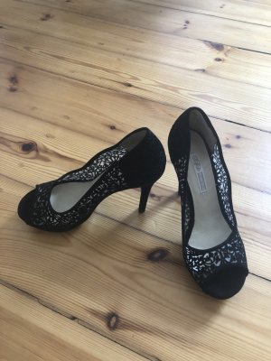 Buffalo London Peep Toe Pumps zwart