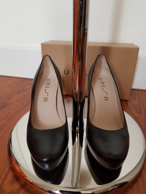 Unisa Platform Pumps black leather