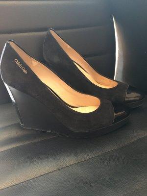 Calvin Klein Wedge Pumps black