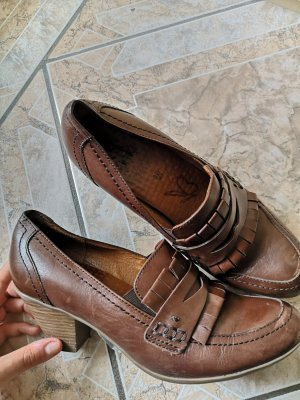 Caprice Chaussure à talons carrés brun foncé