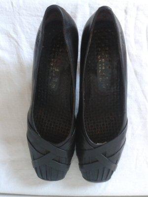 Caprice Zapatos de tacón con barra en T negro