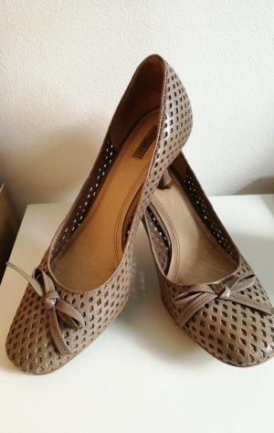 Mary Jane Pumps grey brown-grey leather
