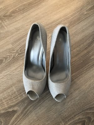 Plateauzool pumps zilver