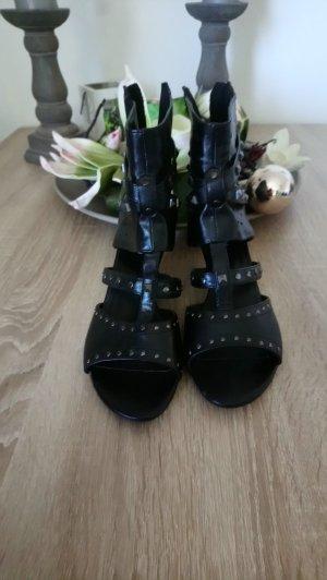 Graceland Chaussure à talons carrés noir-argenté