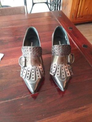 Zinda Chaussure à talons carrés bronze-gris anthracite