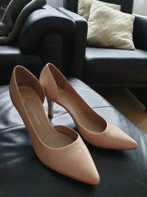 lazzarini Pointed Toe Pumps light brown leather