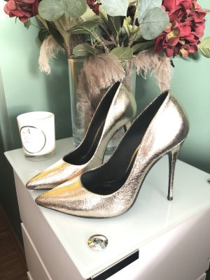 Pumps, gold, outstanding beautiful! Cosmoparis, Leder