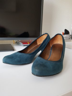 Pumps  | Gr.37 | petrolblau | Leder