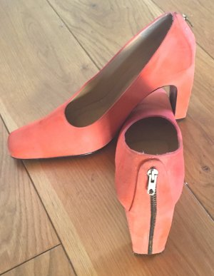 Apart High Heels orange suede