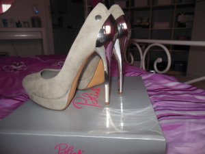 Blink Tacones altos gris claro-color plata