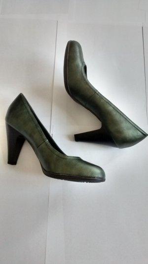 Pumps grün metalic Gr. 38 Schuhe neu