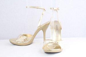 Guess Platform High-Heeled Sandal sand brown