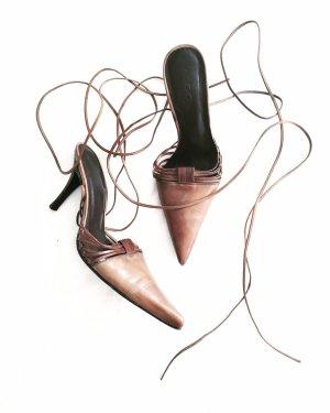 pumps • hellbraun • aldo • cognac • high heels • bohostyle • leder